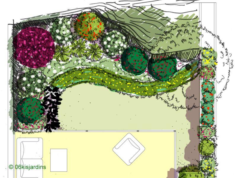 Nice Jardin A L Ombre #4: ... Concpetion Jardin à Lu0027ombre / Esquisse Paysagère ...