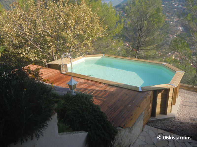 Pose piscine bois azura ubbink for Piscine bois nice
