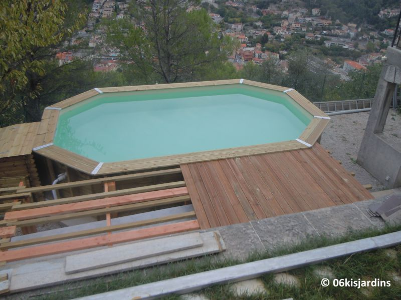 Piscine structure bois for Piscine octogonale bois
